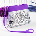 Сумочка для росписи  My Little Pony с фломастерами и стразами ST-1506-MLP