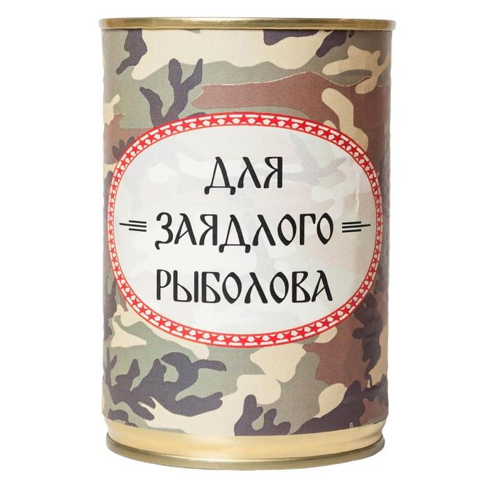 """Носки в банке ТРИО """"Для заядлого рыболова""""  (мужские, цвет черный)"""