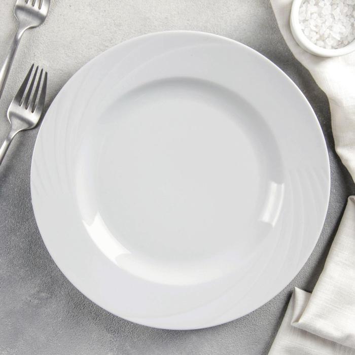 "Тарелка мелкая 24 см ""Белье"""