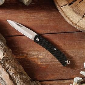 Нож складной, ручка пластик черн., без фиксатора 16*2см в Донецке