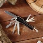 Universal knife 11в1 handle black convex 8,5 cm, blade 6cm