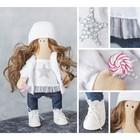 Интерьерная кукла «Лея», набор для шитья, 18.9 × 22.5 × 2.5 см