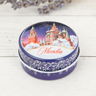 "Candle in jar ""Moscow. St. Basil's Cathedral"", 4.4 cm"