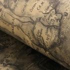 """Бумага упаковочная """"Карта"""", цвет темно-серый, 52 х 75 см"""