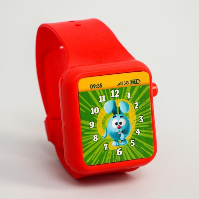"""Часы музыкальные """"Весёлые часики"""" СМЕШАРИКИ, свет, звук, работает от батареек"""