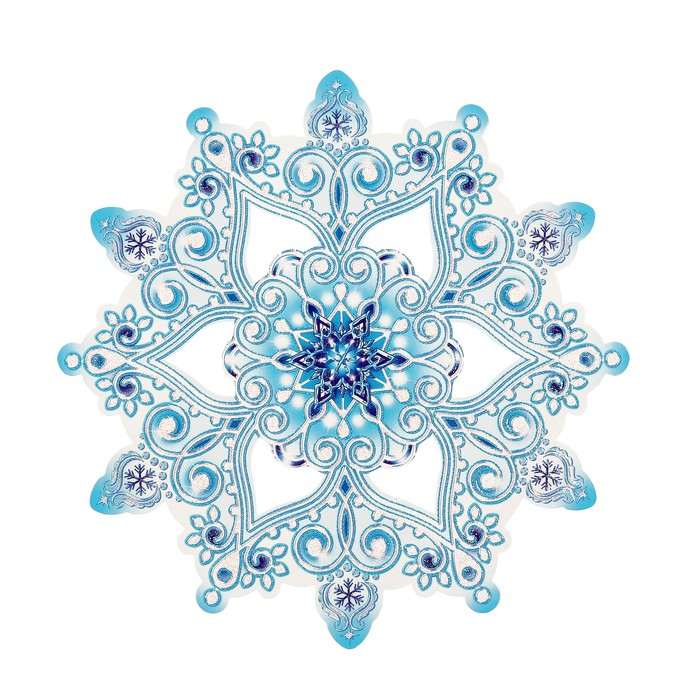 Открытки снежинки новогодние