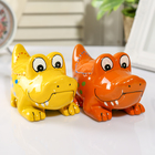 "Piggy Bank ceramic ""Crocodile"" MIX 8х14х7,5 cm"