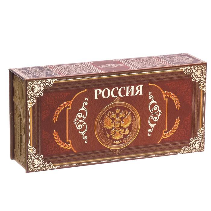 """Шкатулка в картонной обложке """"Россия"""""""