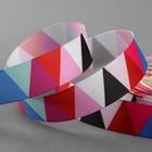 Лента репсовая «Треугольники», 25мм, 18±1м, разноцветная
