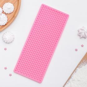 """Коврик для айсинга 25×10 см """"Черепица"""", цвет розовый"""