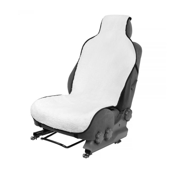 Накидка на сиденье, натуральная шерсть,145 х 55 см, белая