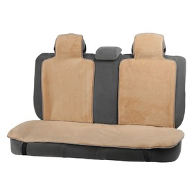 Capes in the back seat, natural wool, 135 x 55 75 x 55 cm, beige, 3 PCs set