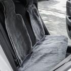Накидки на заднее сиденье, нат. шерсть, 135 х 55 и 75 х 55 см, серый, набор 3 шт