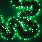 НИТЬ уличная, УМС, Мишура шарики Д:4 м. Н.Т. LED-400-31V 8 режимов, ЗЕЛЕНЫЙ