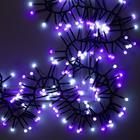 """Гирлянда """"Нить"""" уличная, УМС, мишура шарики 4 м LED-400-31V 8 режимов, свечение бело-фиолетовое"""