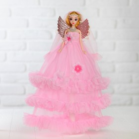 Doll stand Princess with wings, pink dress