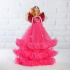 """Кукла на подставке """"Принцесса"""" с крыльями, розовое платье с бантами"""