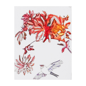 "Set for creativity ""Filigree drawing - bird with flowers"""