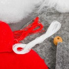 """Новогодняя ёлочная игрушка, Набор для создания подвески из фетра """"Гномик"""""""
