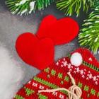 """Набор для создания подвесной елочной игрушки из фетра """"Снеговичок"""", цвет красный"""