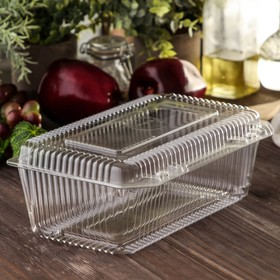 Контейнер с неразъемной крышкой ИП-29, 24,8х15,2х9,2 см, прозрачный Ош