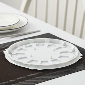 Тортница одноразовая Протэк ПР-Т-192, дно 22,5 см, цвет белый, 150 шт/уп.