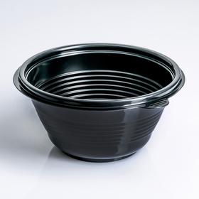 Контейнер одноразовый ПР-МС-500, круглый, чёрный, 500 мл, 14,4×7 см, 540 шт/уп.