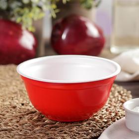 Миска одноразовая суповая, 500 мл, цвет красный, 480 шт/уп.