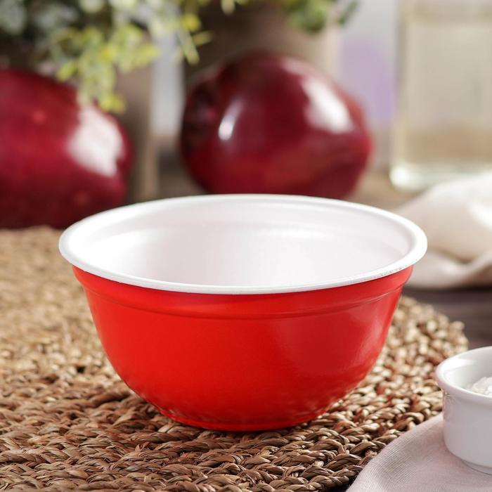 Миска суповая, 500 мл, цвет красный, 480 шт/уп. - фото 308013535