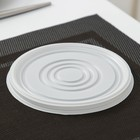 Крышка одноразовая для суповой миски ПС, d=13,5 см, цвет белый - фото 308013537