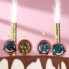 """Набор свечей в торт """"Рейнджеры"""", 5 шт + 2 фонтана"""