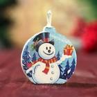 "Candle-medallion ""the Snowman"" 4х4см"