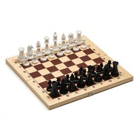 Шахматы гроссмейстерские (доска дерево 43х43 см, фигуры пластик, король h=10.5 см)