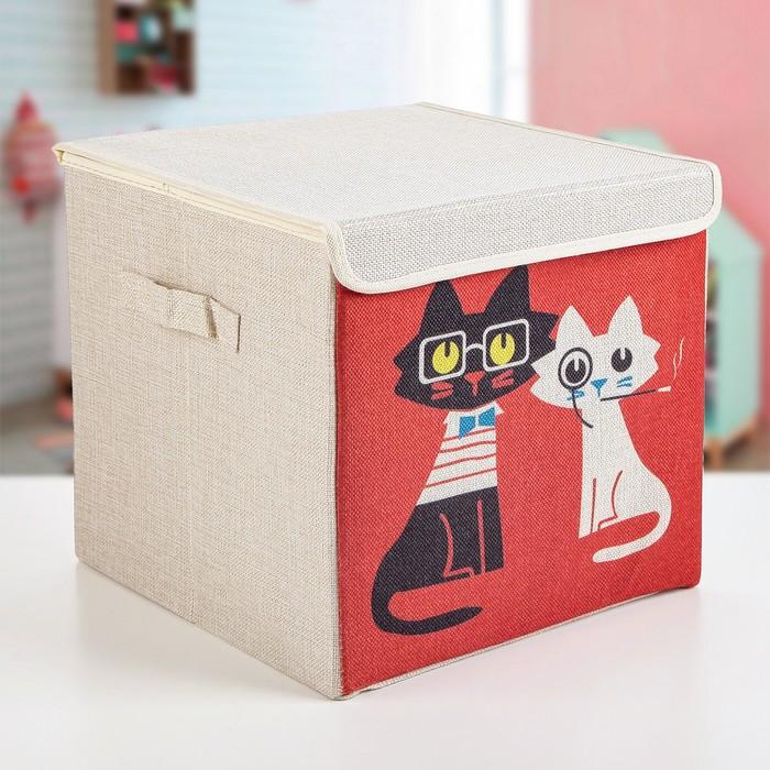 """Короб для хранения 30×30×28.5 см """"Умные коты"""""""
