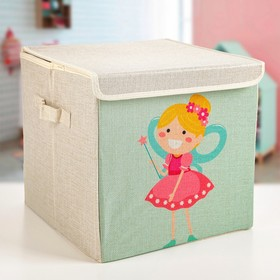 Короб для хранения с крышкой «Фея», 30×30×28,5 см