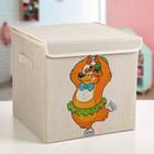 "Короб для хранения 30×30×28.5 см ""Мишка фигурист"" - фото 302271001"
