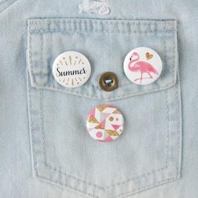 Набор значков 'Фламинго' 3шт. Ош