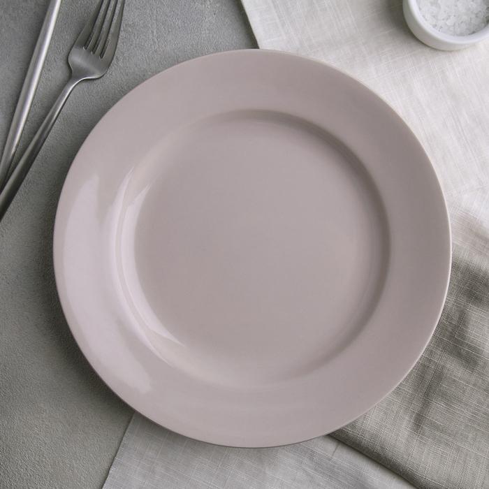 Тарелка мелкая 24 см, цвет МИКС