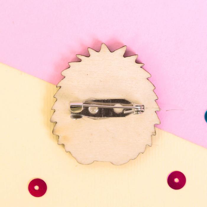 """Значок деревянный в конверте """"Ёжик"""" - фото 303358942"""