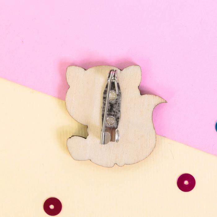 """Значок деревянный в конверте """"Лиса"""" - фото 305864267"""