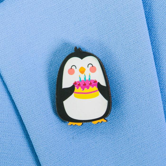 """Значок деревянный в конверте """"Пингвин"""" - фото 245326109"""