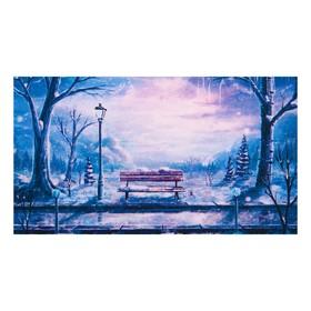 Алмазная мозаика 'Зимний парк'  50*30см, 27 цветов F-224 Ош