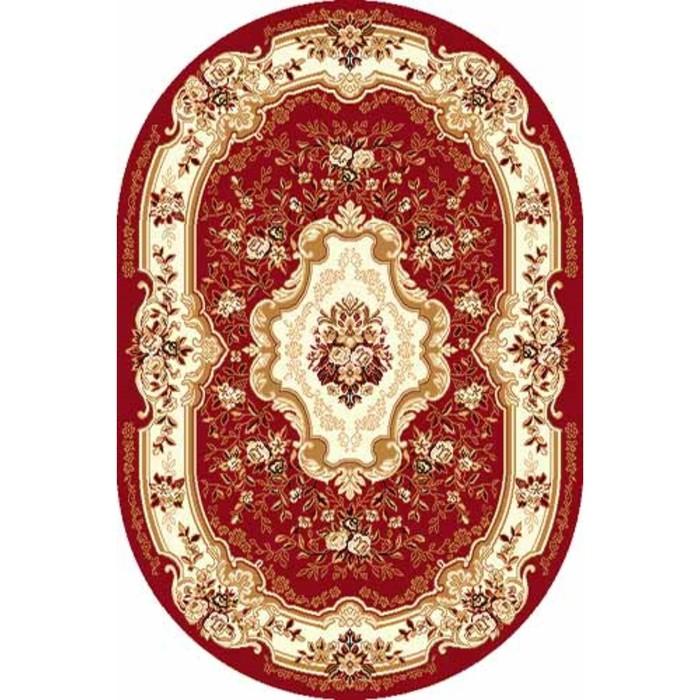 Ковёр овальный Laguna d017, размер 150 x 190 см, цвет red - фото 7929161