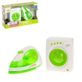 Набор бытовой техники «Чистый дом»: стиральная машинка, утюг