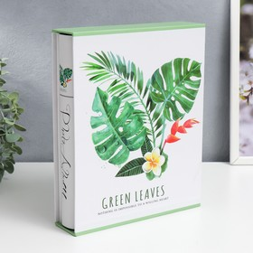 "Фотоальбом на 200 фото 10х15 см ""Пальмовые листья"" в коробке 26х20,5х5 см"
