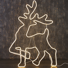 """Фигура из неона """"Олень благородный"""", 100 х 70 см, 6 метра, 600 LED, 220 В, ТЁПЛЫЙ БЕЛЫЙ"""