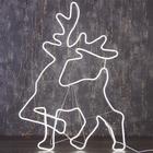 """Фигура из неона """"Олень благородный"""", 100 х 70 см, 6 метра, 600 LED, 220 В, БЕЛЫЙ"""