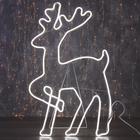 """Фигура из неона """"Олень танцующий"""", 90 х 50 см, 5 метра, 600 LED, 220 В, БЕЛЫЙ"""