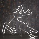 """Фигура из неона """"Олень летящий"""", 70 х 70 см, 4 метра, 480 LED, 220 В, БЕЛЫЙ"""