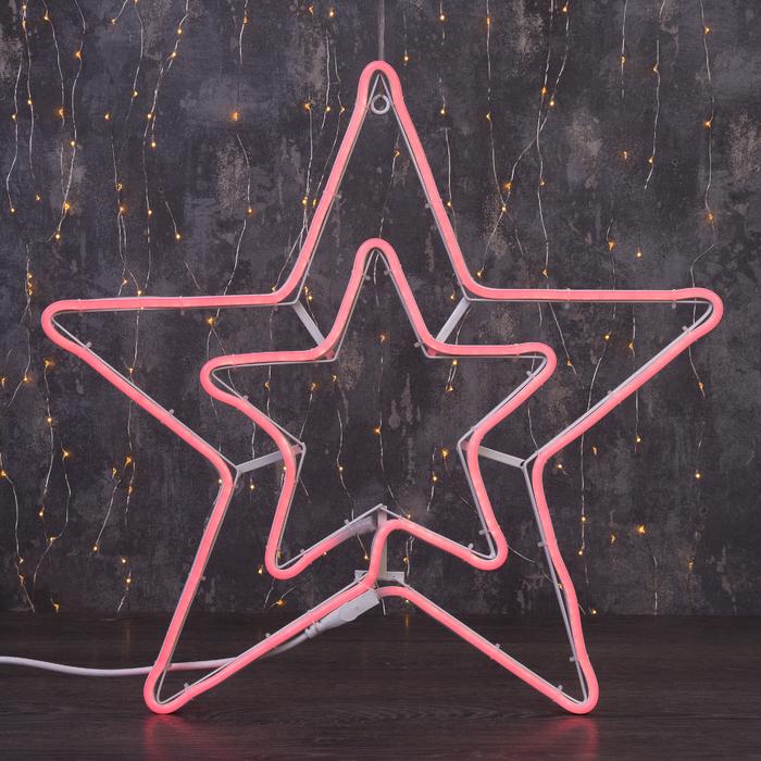 """Фигура из неона """"Звезда"""", 55 см, 3 метра, 360 LED, 220V, КРАСНЫЙ"""